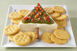 Cream Cheese Pesto Christmas Tree