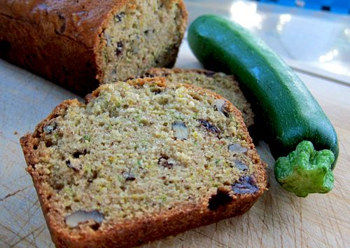 Zucchini Bread with Chocolate Chips (Chantal Fontaine, À la di Stasio)