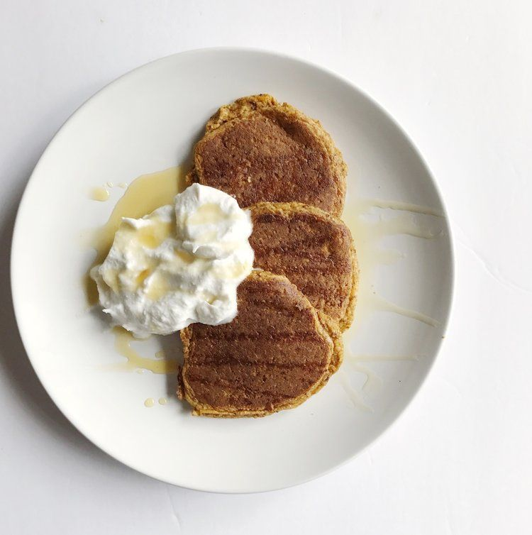Paleo Pumpkin Pancakes & Coconut Whipped Cream