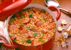 Turkey And Sausage Creole Jambalaya