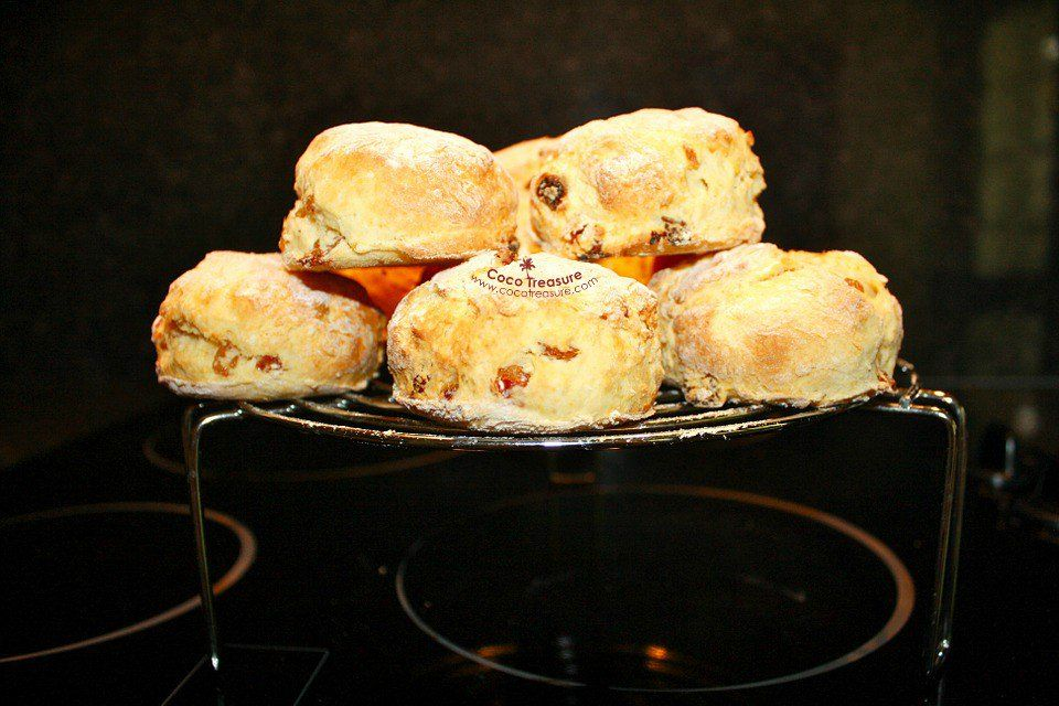 Coconut Flour Scones with Orange Glaze
