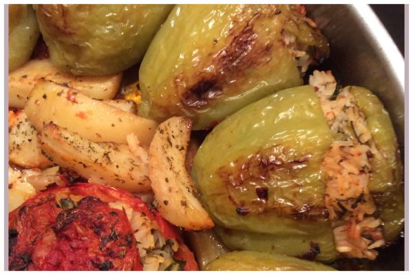 Gemista.  Stuffed vegetables