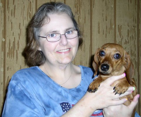 Me & Maggie Mae, the mother of Tinker and Rosie!