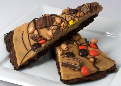 Peanut Butter Candy Chocolate Pizza