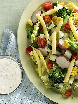 Summer Chopped Salad with Ranch Dressing