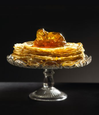 Crepes with Lyles Golden Syrup Jelly