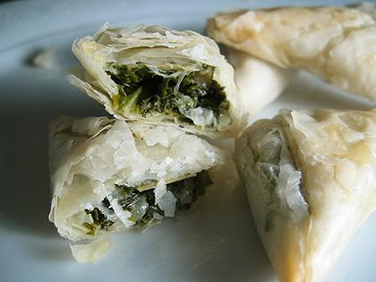Spanakopita - Spinach And Feta Phyllo Triangles