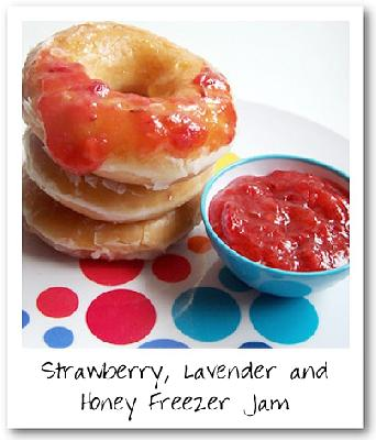 Strawberry, Lavender & Honey Freezer Jam