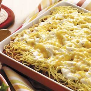 SPAGHETTI CASSEROLE from Simple and Delicious