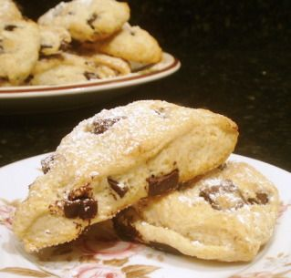 Semi-Sweet Chocolate Chip Scones