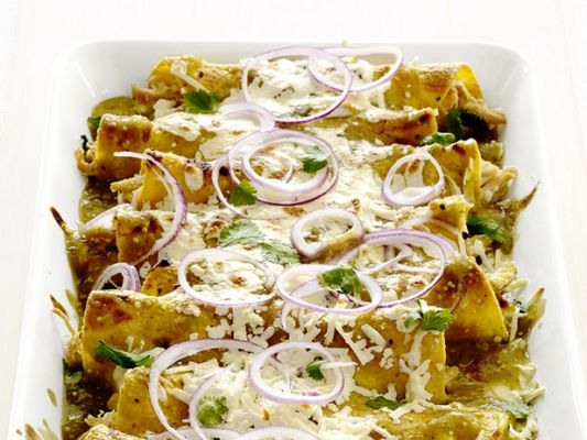 Chicken-and-Cheese Enchiladas