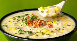 Corn Chowder with Bacon, Chicken and Potato