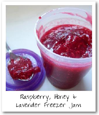 Raspberry, Honey & Lavender Freezer Jam