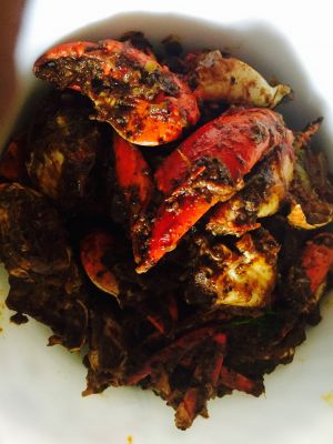 Spicy Indian (Andhra style) crab curry