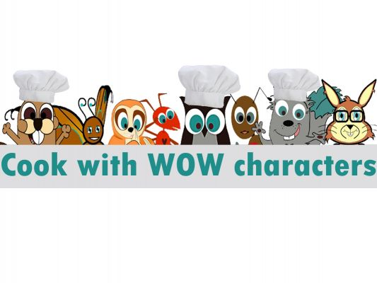 L. Kayell presents: Cook with the WOW Characters of iN Education, Inc.