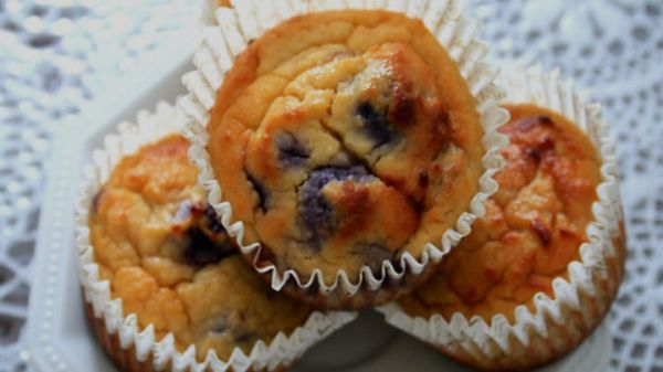 Blueberry Protein Cupcakes