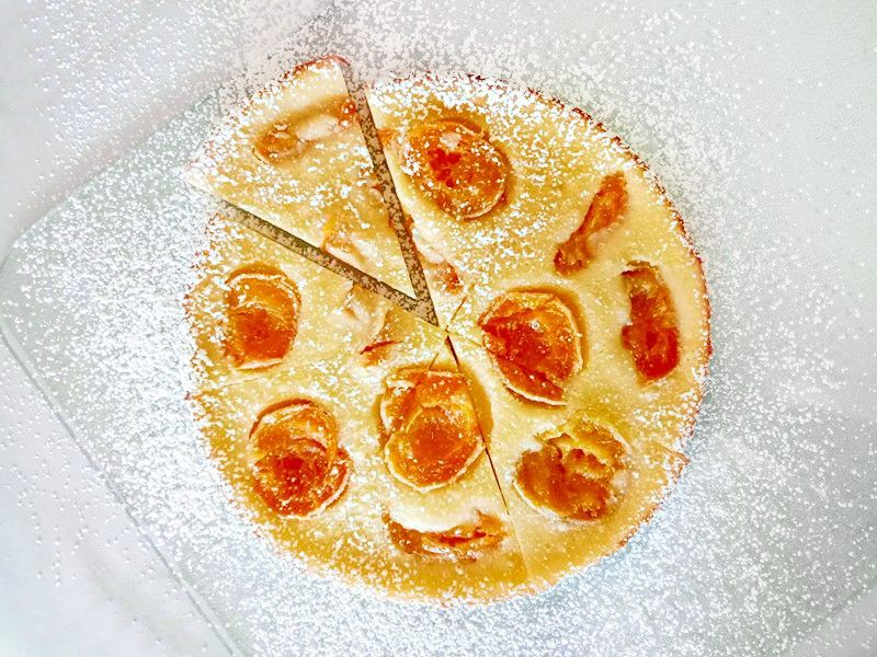 Apricots Baked in a Sweet Batter (Apricot Clafoutis)