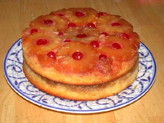 Double Layer Pineapple Upside Down Cake