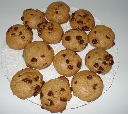 Reduced Sugar Chocolate Chip cookies
