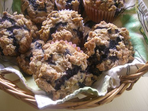 Cinnamon Streusel Blueberry Muffins