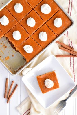 Maple Pumpkin Slab Pie