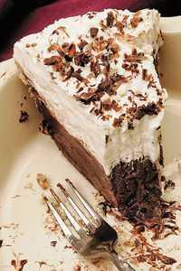 White & Fudge Pie