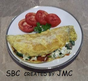 Eggplant Parmagiana Omelet