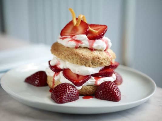 Strawberry Shortcakes with Orange Scented Whipped Cream