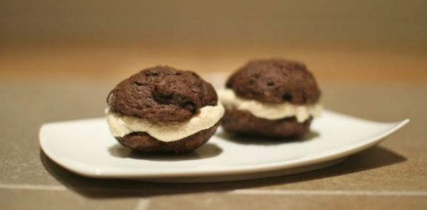 Chocolate Whoopie Pies with Orange-Mint Buttercream