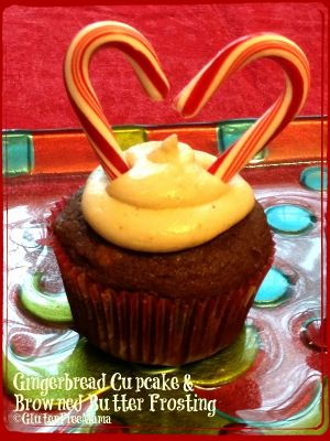 Gluten Free Gingerbread Cupcake with Browned Butter Butter Cream Frosting