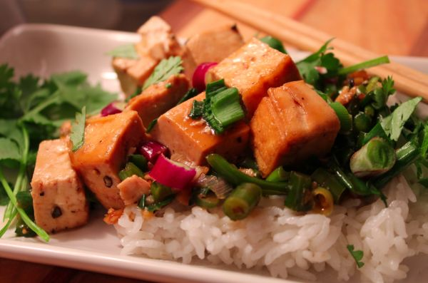 Hot pepper tofu
