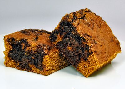 Chocolate Pumpkin Brownies