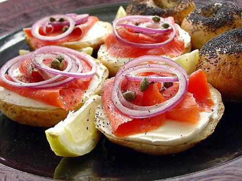 Smoked Salmon on Bagels