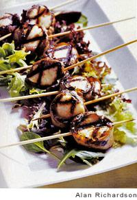 GRILLED MISO-CITRUS SCALLOP LOLLIPOPS