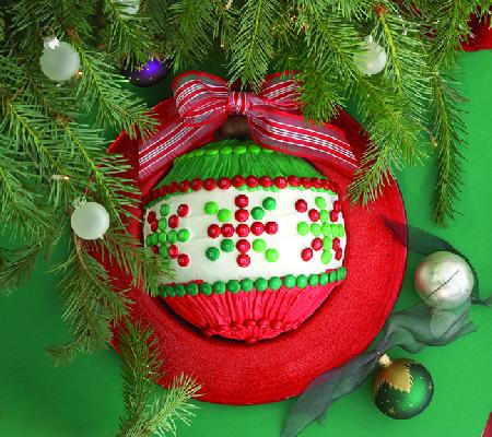 Holiday Ornament Cake Dessert