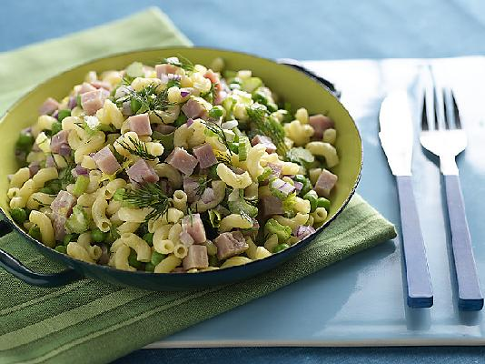 Macaroni Salad with Dill and Ham