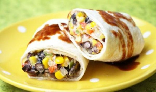 Black Bean and Corn Burrito