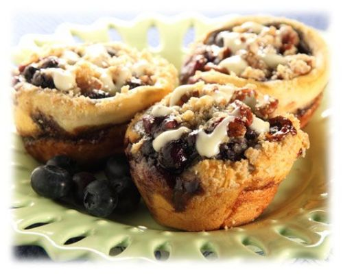 Cinnamon Blueberry Crumble Muffins