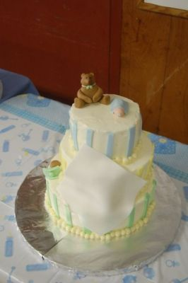 3-Tier Baby Shower Cake