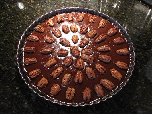 MEXICAN CHOCOLATE TART WITH CINNAMON-SPICED PECANS Recipe - BakeSpace