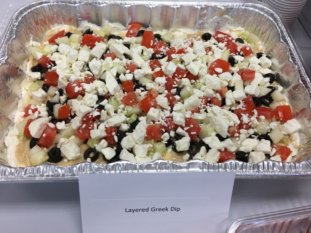 Layered Greek Dip. By Allison Kniffin