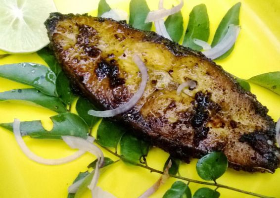 Delicious fish fry green masala recipe on for Delicious fish recipes