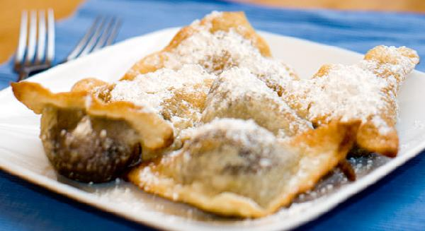 Chocolate Hazelnut Wontons (or Fried Ravioli)