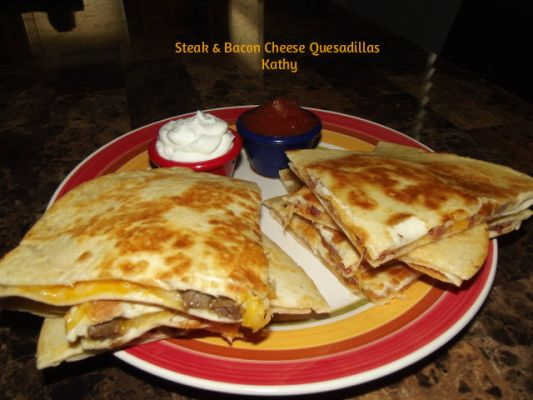 Steak & Bacon Cheese Quesadillas