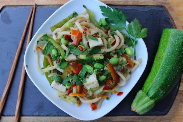 Vegan Stir Fried Udon Noodles