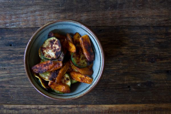 Paprika Dusted Summer Vegetable Rounds