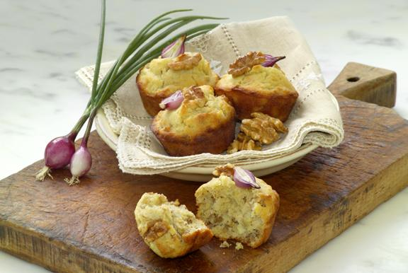 Onion-Walnut Muffins