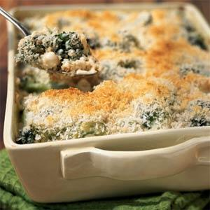 Broccoli, Cheddar and Rice Casserole