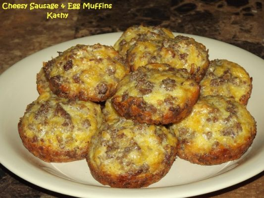 Cheesy Sausage Egg Muffins