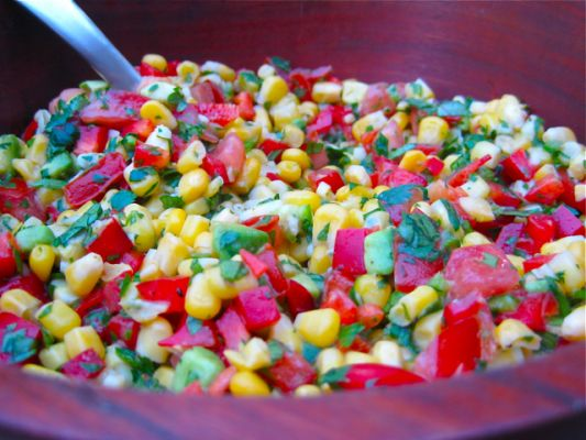 Raw Vegan Zesty Lime Corn Salad